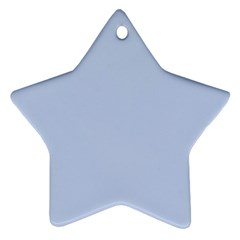 Solid Alice Blue in an English Country Garden Wedding Star Ornament (Two Sides)