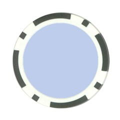 Solid Alice Blue in an English Country Garden Wedding Poker Chip Card Guard