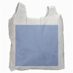 Solid Alice Blue in an English Country Garden Wedding Recycle Bag (Two Side)