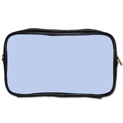 Solid Alice Blue in an English Country Garden Wedding Toiletries Bags 2-Side
