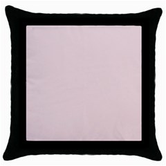 Solid Alice Pink in an English Country Garden Throw Pillow Case (Black)