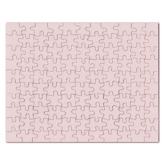 Solid Alice Pink in an English Country Garden Rectangular Jigsaw Puzzl