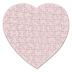 Solid Alice Pink in an English Country Garden Jigsaw Puzzle (Heart)
