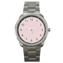 Solid Alice Pink in an English Country Garden Sport Metal Watch