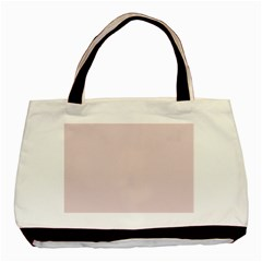 Solid Alice Pink in an English Country Garden Basic Tote Bag (Two Sides)