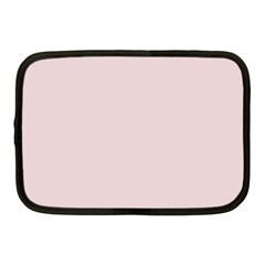Solid Alice Pink in an English Country Garden Netbook Case (Medium)