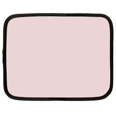 Solid Alice Pink in an English Country Garden Netbook Case (XXL)