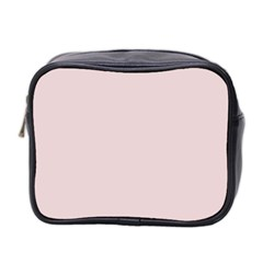 Solid Alice Pink in an English Country Garden Mini Toiletries Bag 2-Side
