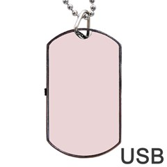 Solid Alice Pink in an English Country Garden Dog Tag USB Flash (Two Sides)