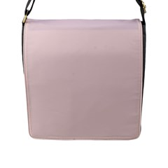 Solid Alice Pink in an English Country Garden Flap Messenger Bag (L)