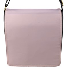 Solid Alice Pink in an English Country Garden Flap Messenger Bag (S)