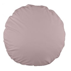 Solid Alice Pink in an English Country Garden Large 18  Premium Flano Round Cushions