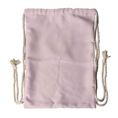 Solid Alice Pink in an English Country Garden Drawstring Bag (Large)