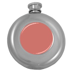 Camellia Pink in an English Country Garden Round Hip Flask (5 oz)