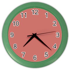 Camellia Pink in an English Country Garden Color Wall Clocks