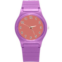 Camellia Pink in an English Country Garden Round Plastic Sport Watch (S)
