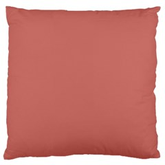 Camellia Pink in an English Country Garden Large Flano Cushion Case (Two Sides)