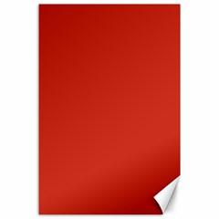 Dahlia Red in an English Country Garden Canvas 24  x 36