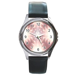 Neonite Abstract Pattern Neon Glow Background Round Metal Watch