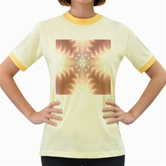 Neonite Abstract Pattern Neon Glow Background Women s Fitted Ringer T-Shirts