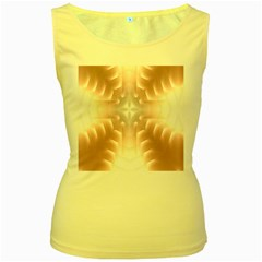 Neonite Abstract Pattern Neon Glow Background Women s Yellow Tank Top