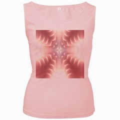 Neonite Abstract Pattern Neon Glow Background Women s Pink Tank Top