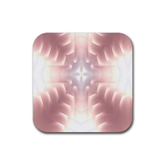 Neonite Abstract Pattern Neon Glow Background Rubber Coaster (square)