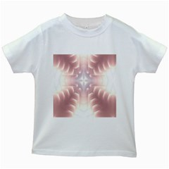 Neonite Abstract Pattern Neon Glow Background Kids White T-Shirts