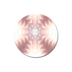 Neonite Abstract Pattern Neon Glow Background Magnet 3  (Round)