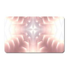 Neonite Abstract Pattern Neon Glow Background Magnet (rectangular)