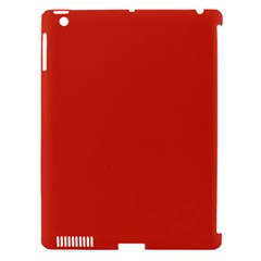 Dahlia Red in an English Country Garden Apple iPad 3/4 Hardshell Case (Compatible with Smart Cover)