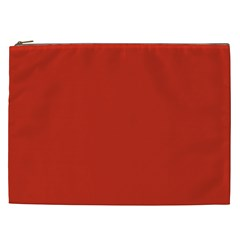 Dahlia Red in an English Country Garden Cosmetic Bag (XXL)