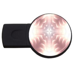 Neonite Abstract Pattern Neon Glow Background USB Flash Drive Round (1 GB)