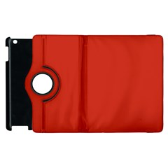 Dahlia Red in an English Country Garden Apple iPad 2 Flip 360 Case
