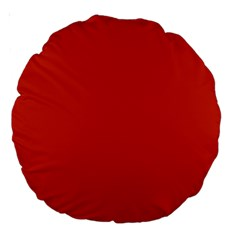 Dahlia Red in an English Country Garden Large 18  Premium Round Cushions