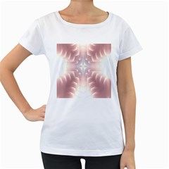 Neonite Abstract Pattern Neon Glow Background Women s Loose Fit T Shirt (white)