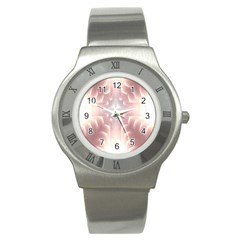 Neonite Abstract Pattern Neon Glow Background Stainless Steel Watch