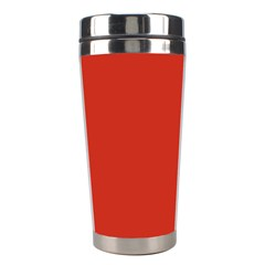 Dahlia Red in an English Country Garden Stainless Steel Travel Tumblers