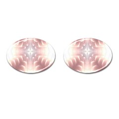 Neonite Abstract Pattern Neon Glow Background Cufflinks (Oval)