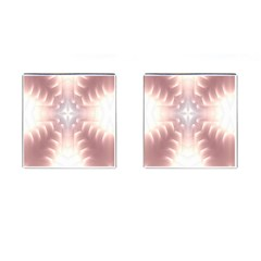 Neonite Abstract Pattern Neon Glow Background Cufflinks (square)