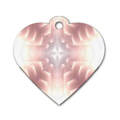 Neonite Abstract Pattern Neon Glow Background Dog Tag Heart (One Side)