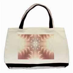 Neonite Abstract Pattern Neon Glow Background Basic Tote Bag (two Sides)