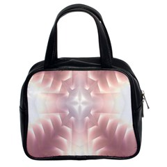 Neonite Abstract Pattern Neon Glow Background Classic Handbags (2 Sides)