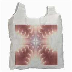 Neonite Abstract Pattern Neon Glow Background Recycle Bag (one Side)