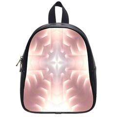 Neonite Abstract Pattern Neon Glow Background School Bags (Small)