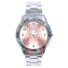 Neonite Abstract Pattern Neon Glow Background Stainless Steel Analogue Watch