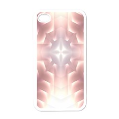 Neonite Abstract Pattern Neon Glow Background Apple iPhone 4 Case (White)