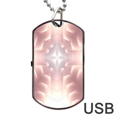 Neonite Abstract Pattern Neon Glow Background Dog Tag USB Flash (One Side)