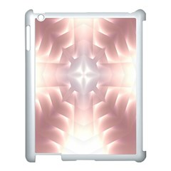Neonite Abstract Pattern Neon Glow Background Apple Ipad 3/4 Case (white)