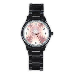 Neonite Abstract Pattern Neon Glow Background Stainless Steel Round Watch